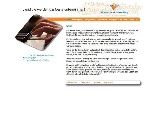 Screenshot der Website www.kuennemann-consulting.de