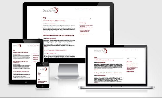 Screenshot des Unternehmens-Blog von Perspektive 2030 im Responsive Webdesign