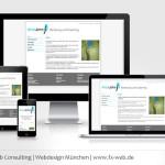 Screenshot www.alice-john.de auf vier verschiedenen Bildschirmgrößen