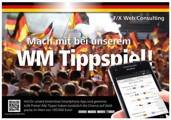 Fussball-WM 2014 Gewinnspiel von F/X Web Consulting und Tobit.Software