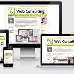 Darstellung unserer Website www.fx-web.de im Responsive Webdesign
