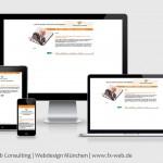 Die Website der Künnemann Consulting GmbH nach dem Relaunch im Responsive Design