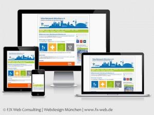 Die Website des VäterNetzwerk München e. V. vor dem Relaunch im Responsive Webdesign