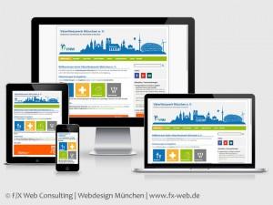 Die Website des VäterNetzwerk München e. V. nach dem Relaunch im Responsive Webdesign