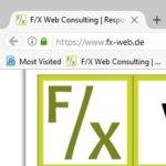 """Beitragsbild für Favicon-Artikel """"F/X-Quick-Tipp: Favicon in Browser-Tab aktualisieren"""""""