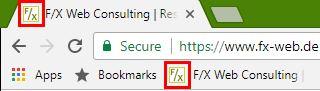 Chrome - Favicon in Tab und Lesezeichen