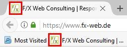 Firefox - Favicon in Tab und Lesezeichen