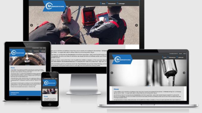 Screenshot der Website rohrreinigung-muenchen.de im Responsive Webdesign