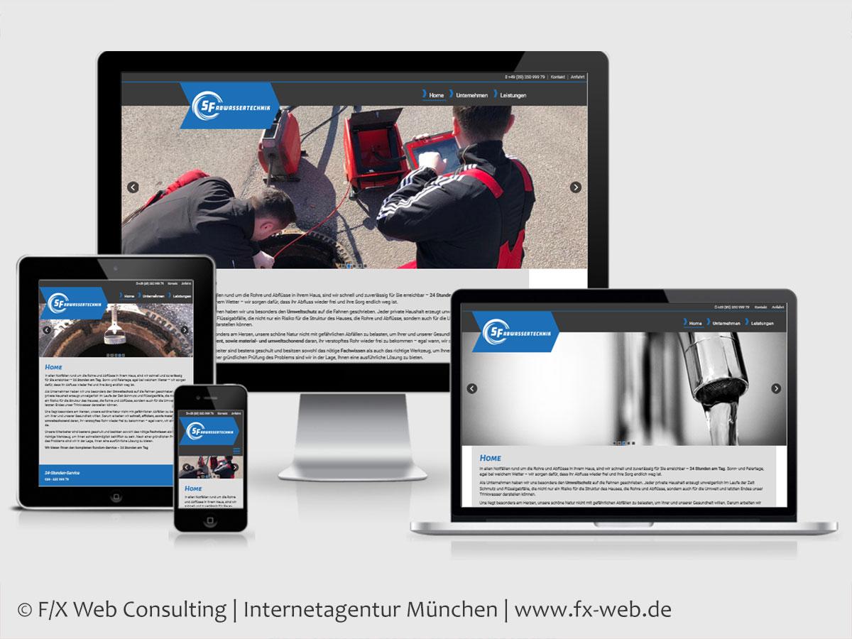 Screenshot der Website rohrreinigung-muenchen.de - Handwerksbranche Abwassertechnik