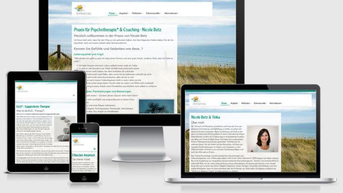 Screenshot der Kundenreferenz www.heilenundentfalten.de