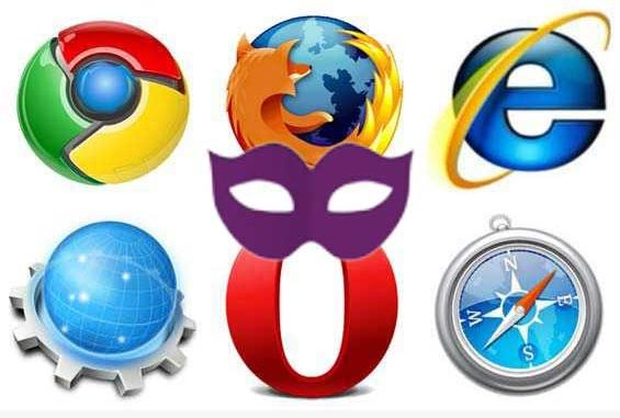 Browser Icons mit Privatmodus-Maske