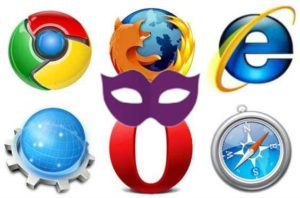 Anonym im Internet surfen - Browser Icons mit Privatmodus-Maske