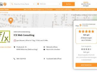 F/X Web Consulting in München - Unternehmensberatung - 29 Bewertungen und Empfehlungen – werkenntdenBESTEN.de