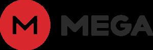 Logo MEGA mit Schriftzug MEGA - Cloud-Speicher vom Feinsten