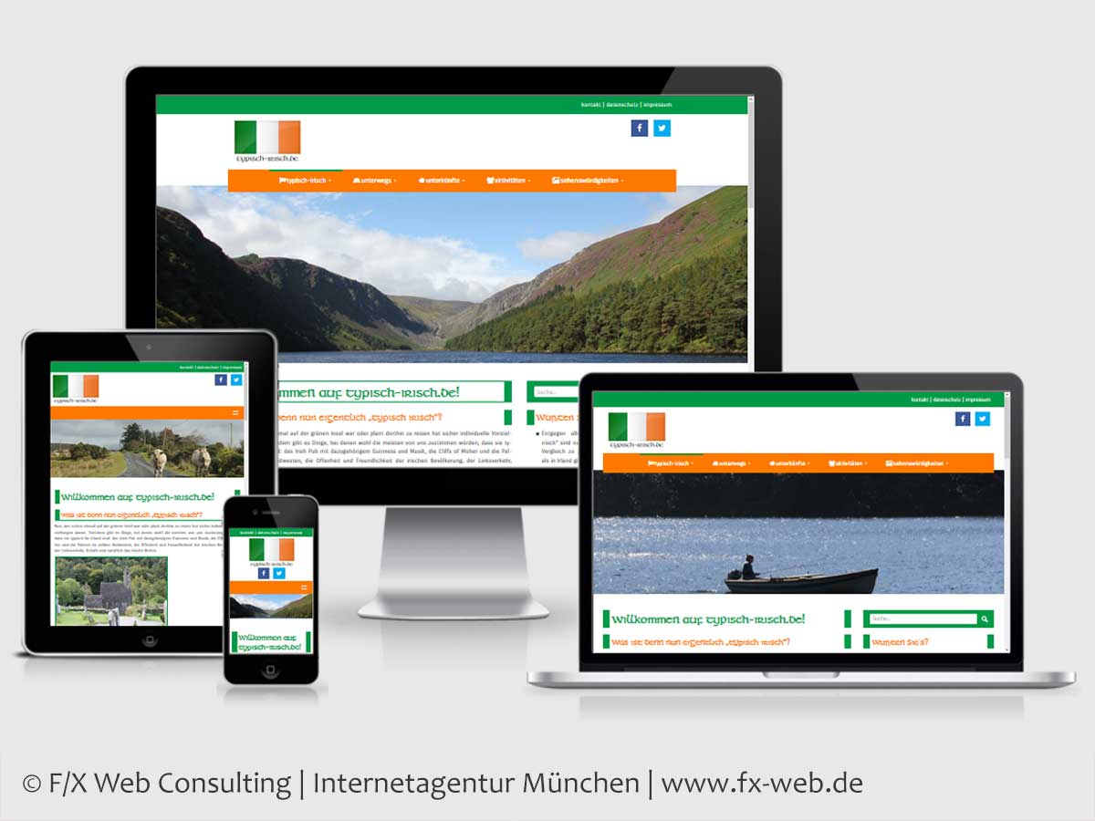 Screenshot der Website typisch-irisch.de