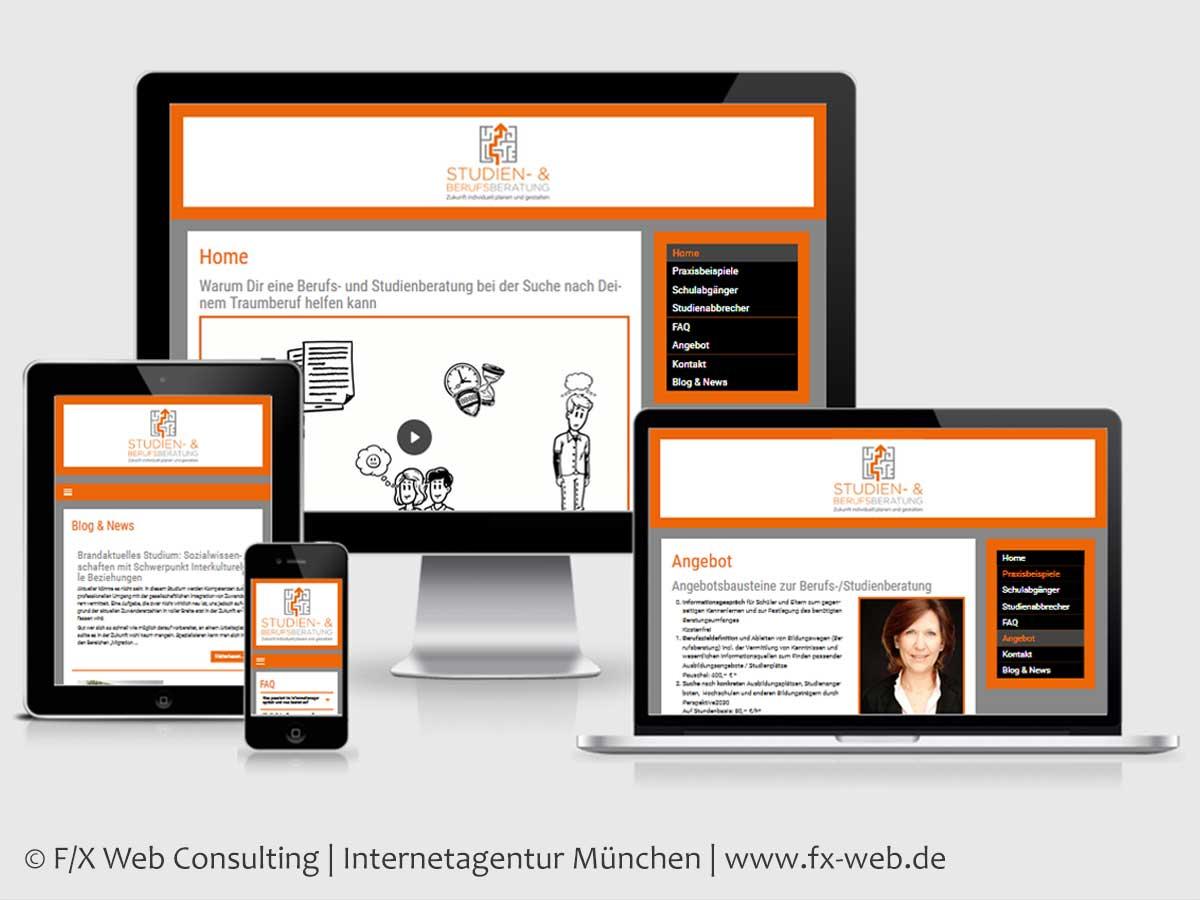 Screenshot der Website berufsberatung-schueler.de